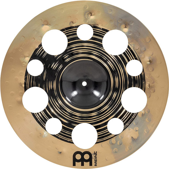 """Meinl Cymbals Classics Custom Dual 18"""" Trash Crash Cymbal with Holes, Dark and Brilliant Finish — Made in Germany — for Rock, Metal and Fusion, 2-Year Warranty, (CC18DUTRC)"""