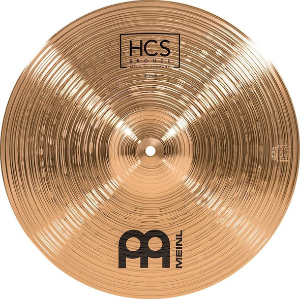 """Meinl Cymbals 16"""" Crash – HCS Traditional Finish Bronze for Drum Set, Made in Germany, 2-Year Warranty (HCSB16C)"""