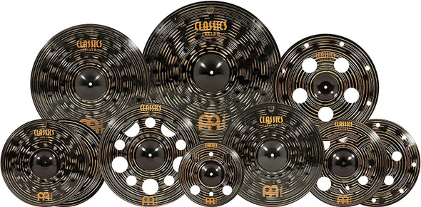 Meinl Cymbals Ultimate Cymbal Set Box Pack – Classics Custom Dark – Made In Germany, TWO-YEAR WARRANTY, CCD-ES2