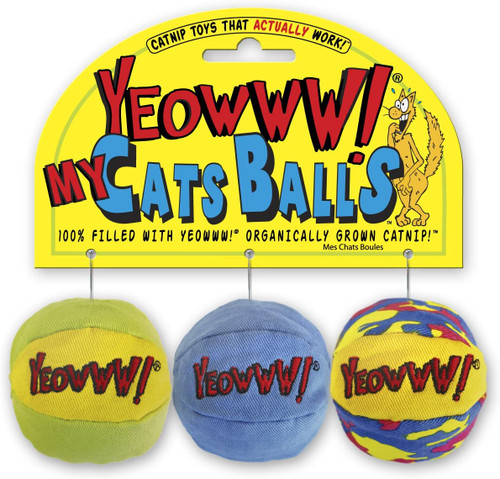 Yeowww My Cats Balls Toy 3pk