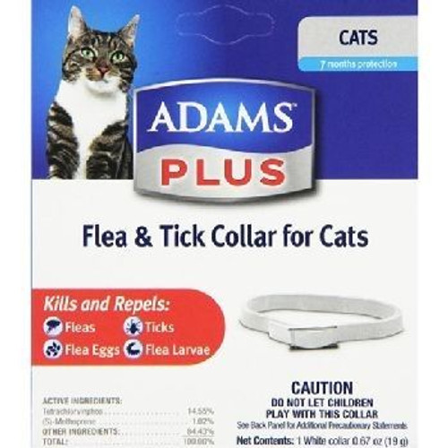 Adams Flea n Tick Plus Collar Cat Kitten