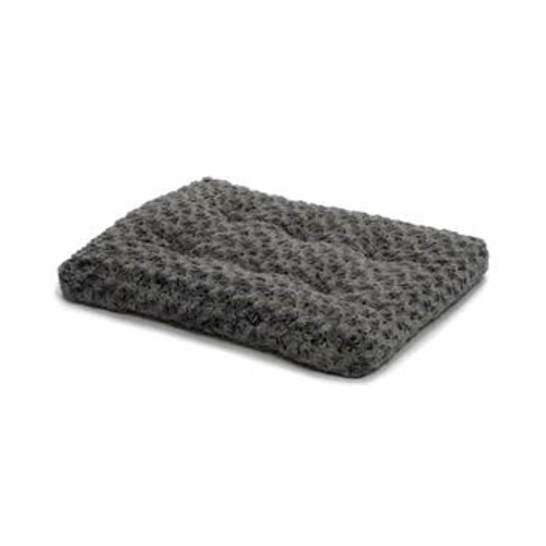 MW Gray Swirl Fur Pet Bed 30in 40630SGB