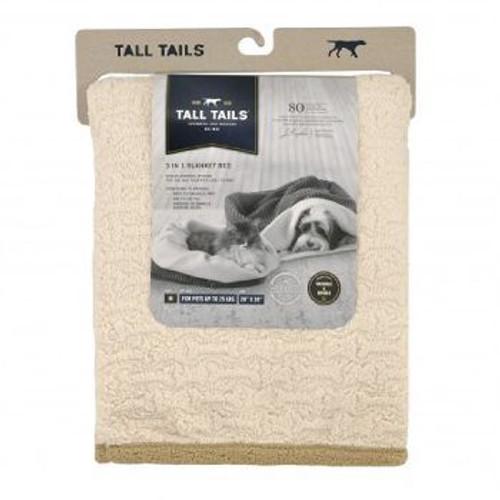 Tall Tails Blanket 23x23 Cream Bone