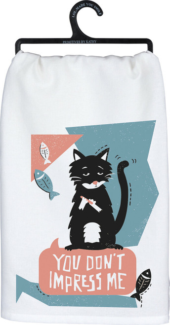 Made of linen, this screen printed hand towel is an adorable addition to your kitchen decor.