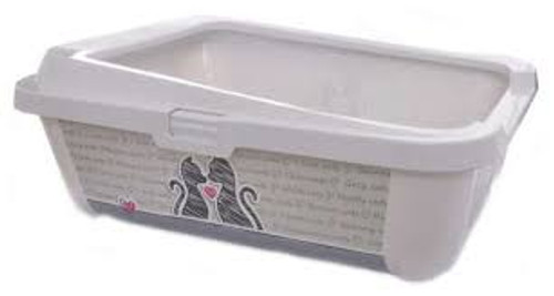 Moderna Cats in Love Litter Box Rimmed Lg