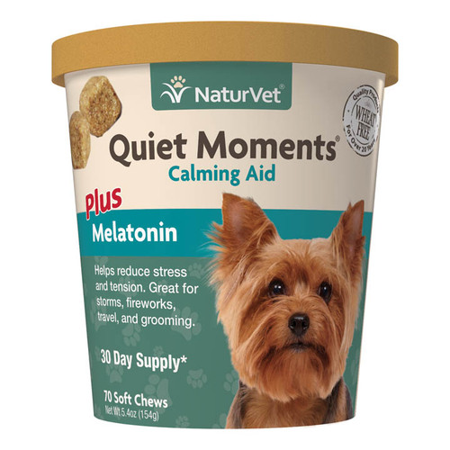 NaturVet Dog Quiet Moments Chew 70ct