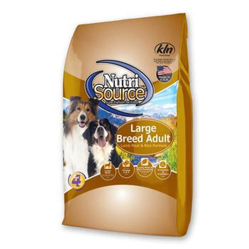 Nutrisource Adult Lamb and Rice Lg Breed 30lb