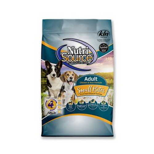 NutriSource Dog Adult Chick Rice Small Bites