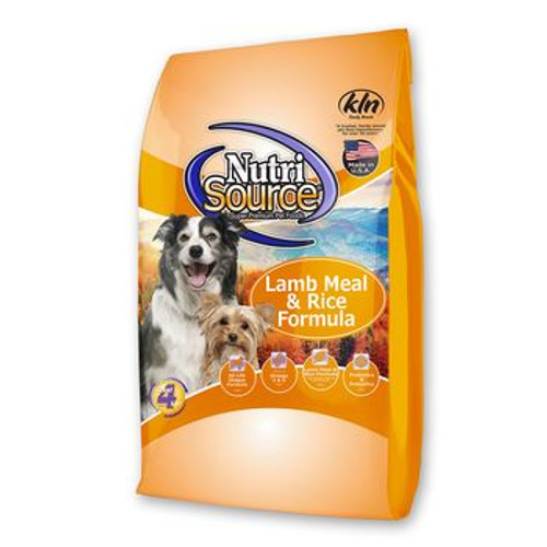 NutriSource Dog Adult Lamb and Rice 30lb