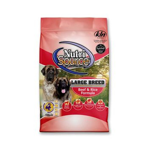 NutriSource Dog Adult Beef Rice Large Breed 30lb