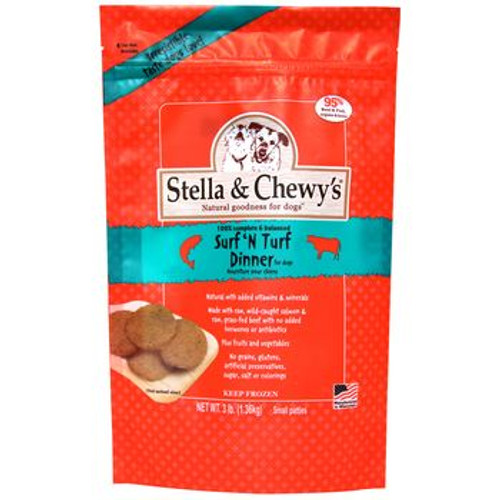 Stella and Chewy Frozen Surf n Turf Dinner 3lb
