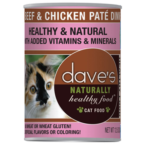 Daves Cat Can Healthy Beef Chicken Dinner 12oz