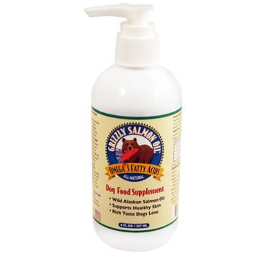 Grizzly Salmon Oil for Dogs 8oz Pump