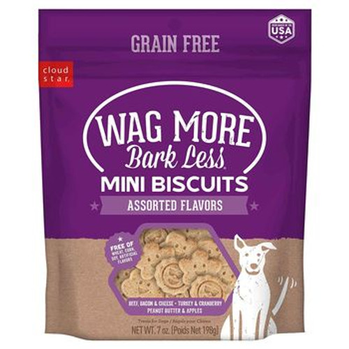 Wag More GF Mini Biscuits Asst 7oz