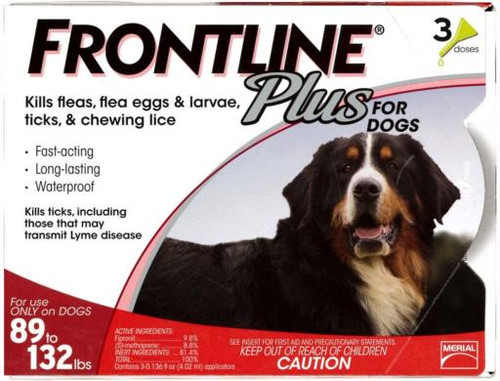 Frontline for Dogs 89-132lbs 3pk