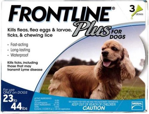 Frontline Plus for Dogs 23-44lbs 3pk
