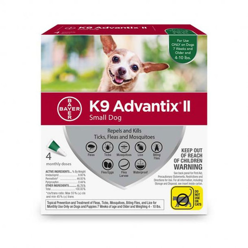 K9 Advantix II Small 4-10lbs 4pk