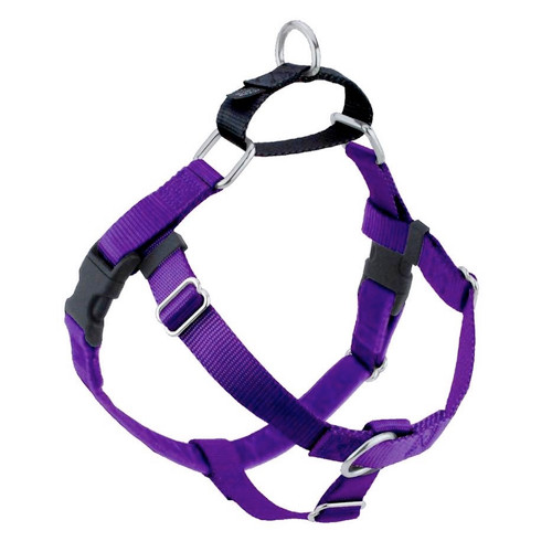 2 Hounds Harness 1in Med Purple