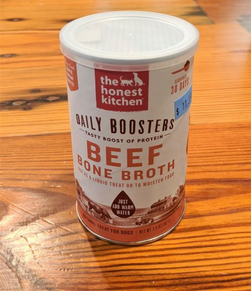 Honest Kitchen Daily Booster Beef Bone Broth 3oz Cannister
