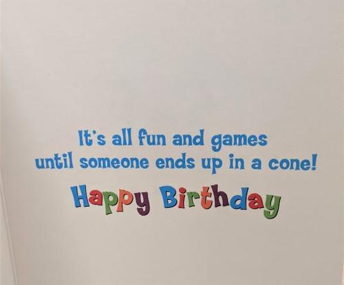 Avanti Card Birthday Cat Cone Confetti