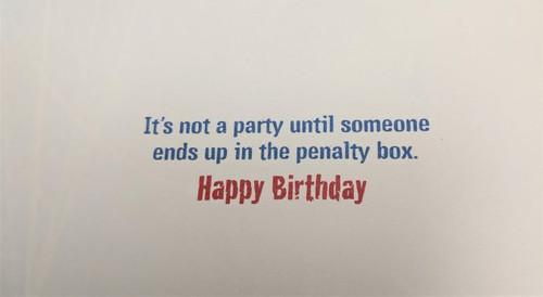 Avanti Card Birthday Cat Hockey