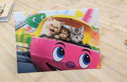 Avanti Card Cat Birthday Kitten Spinny Ride