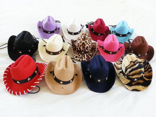 """Tiny Hawaiian hats with a sunglasses pin. These hats are VERY SMALL! Perfect for your Yorkie, Chihuahua, Maltese, or other toy breed.  Small is about 3"""" tip to tip. Large is about 4"""" tip to tip."""