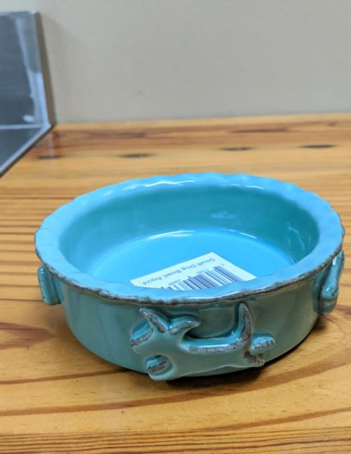 Carmel Ceramica Dog Bowl Aqua Small