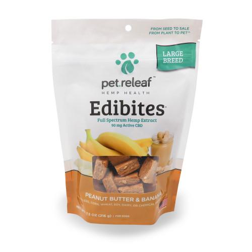 Pet Releaf Edibites PB Banana Lg Breed 7oz