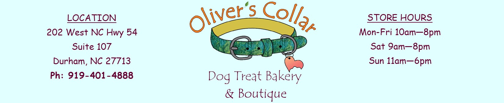 Oliver's Collar Dog Treat Bakery