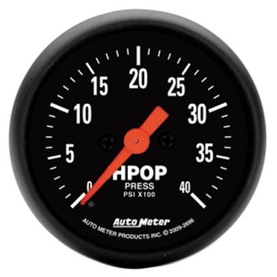 sel HPOP Pressure - Z Series Fuel Wiring Diagram Autometer Press on