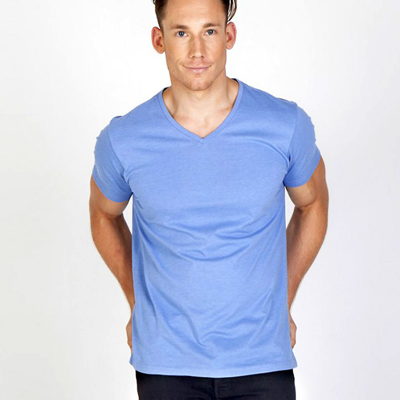 e2a0bdcd v-neck marl tshirt | mens | Plain T Shirts | Wholesale Clothing Australia T  Shirts