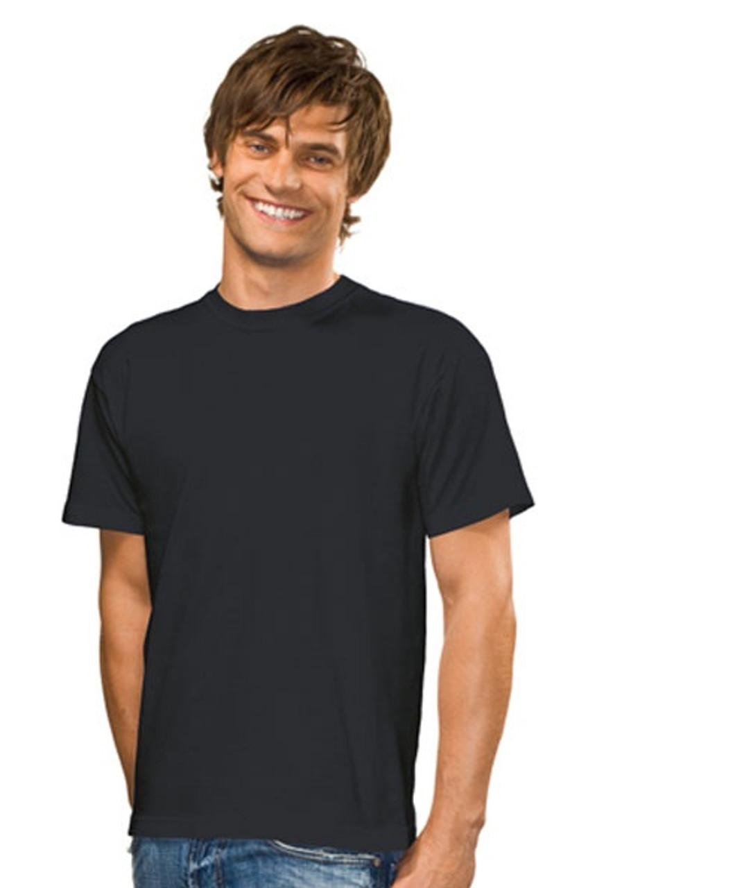 Hanes Stedman Body fit Plain BLACK Slim Fit Tee T-Shirt Tshirt No Logo