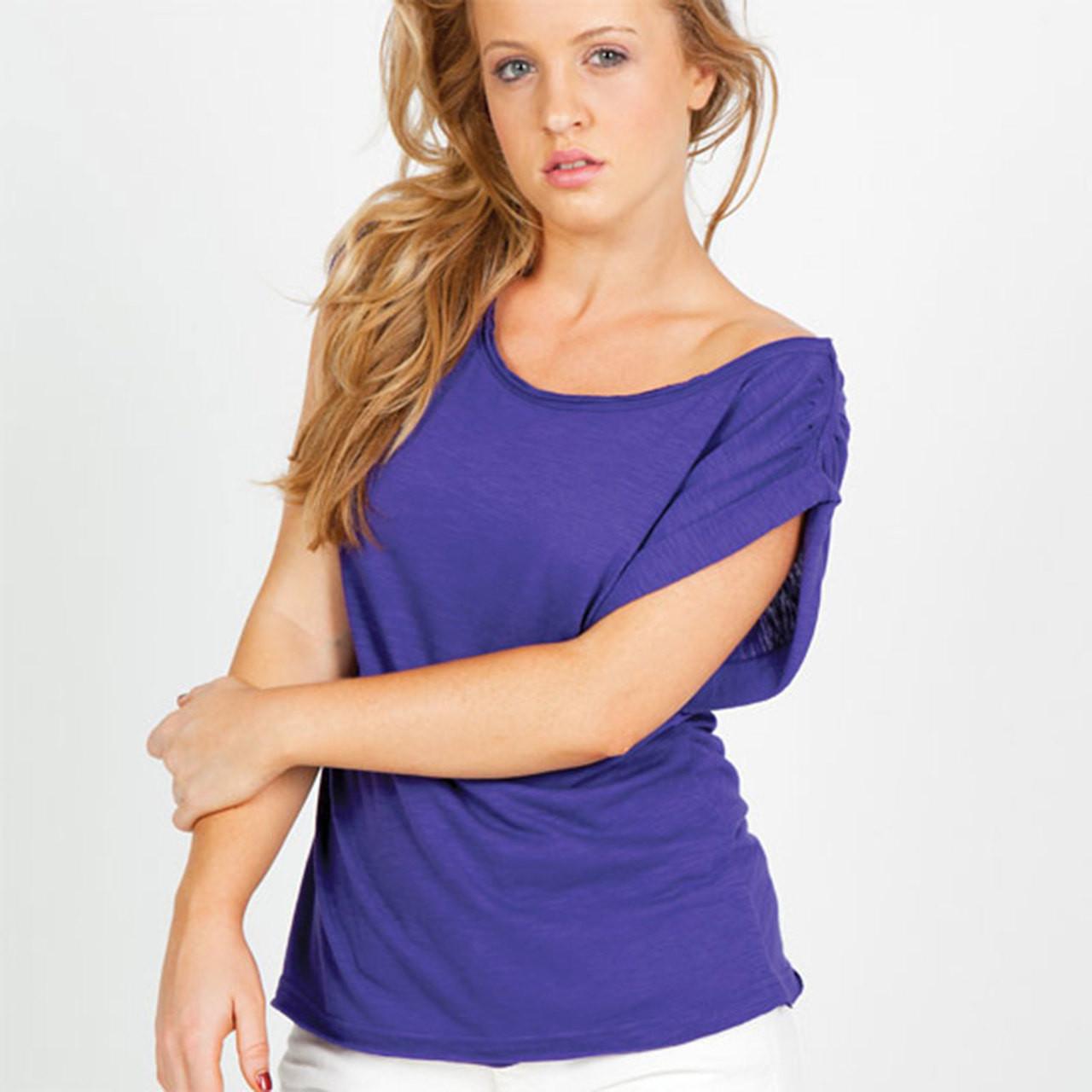 4f9544ab058 AMBER Raw Cotton Women T-Shirts Top