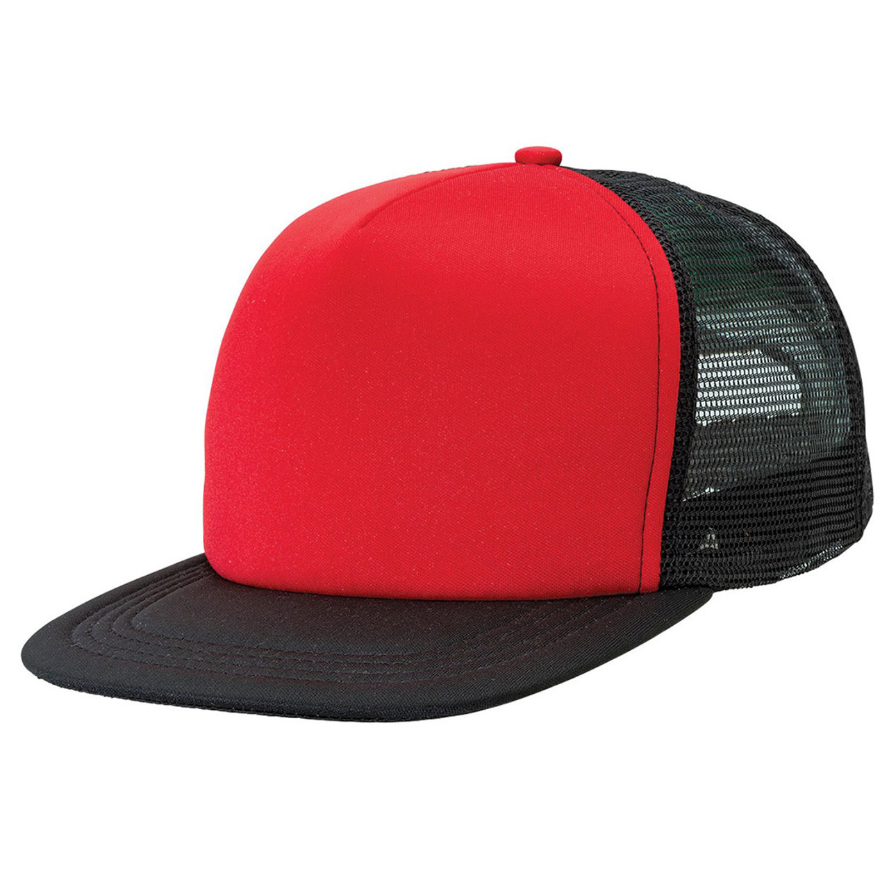 eecc85293ae wholesale plain flat peak trucker cap