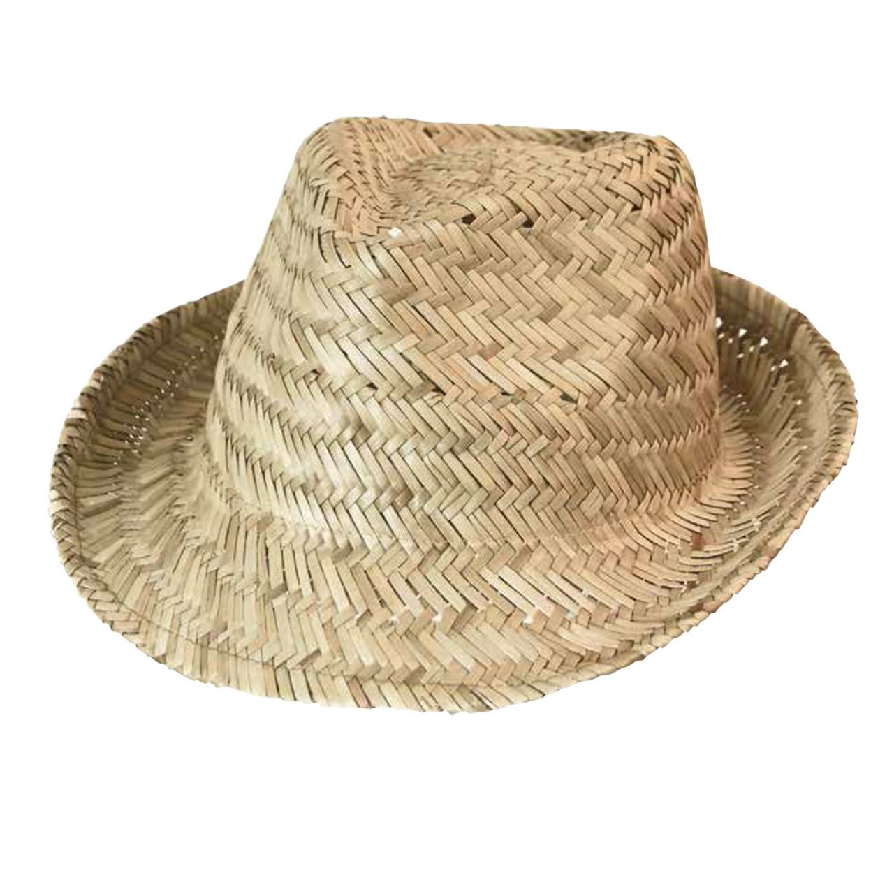 c0a56cd38d3 wholesale plain straw fedora hat