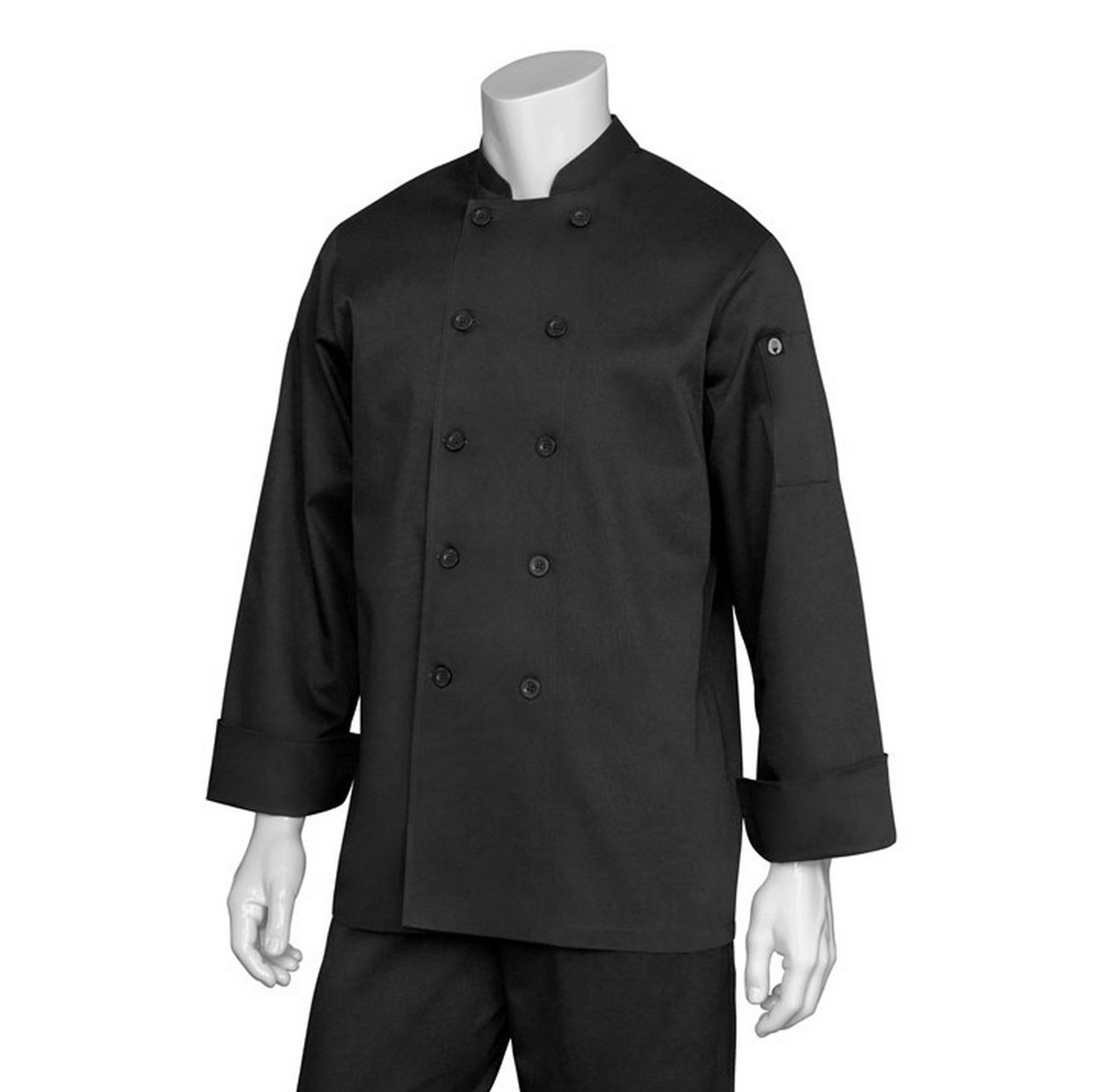 83d60c22b12 Plain Black Chef Jacket Online