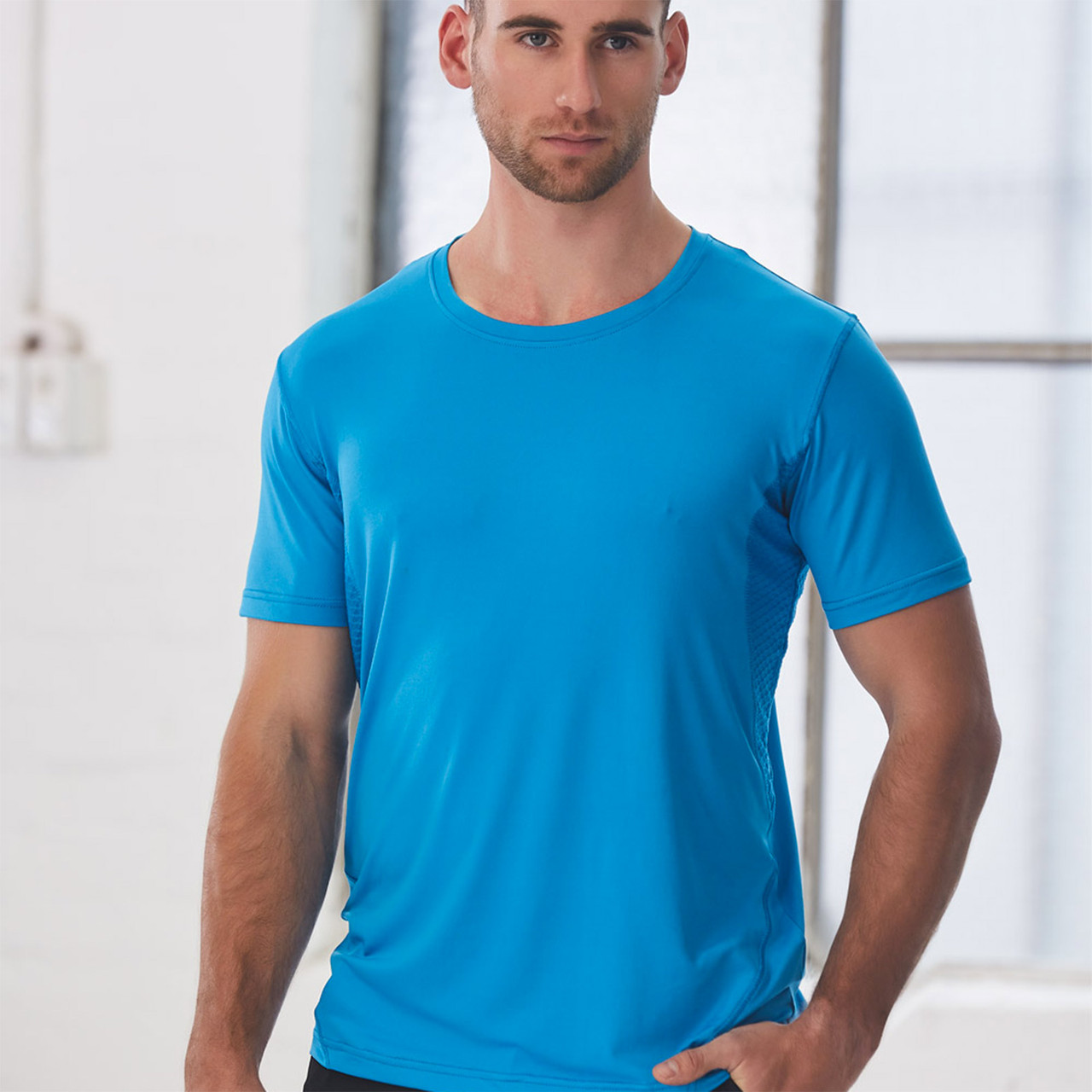 Mens Dri-Cool Athletic Performance Shirt Short Sleeve Breathable Stretchable Top