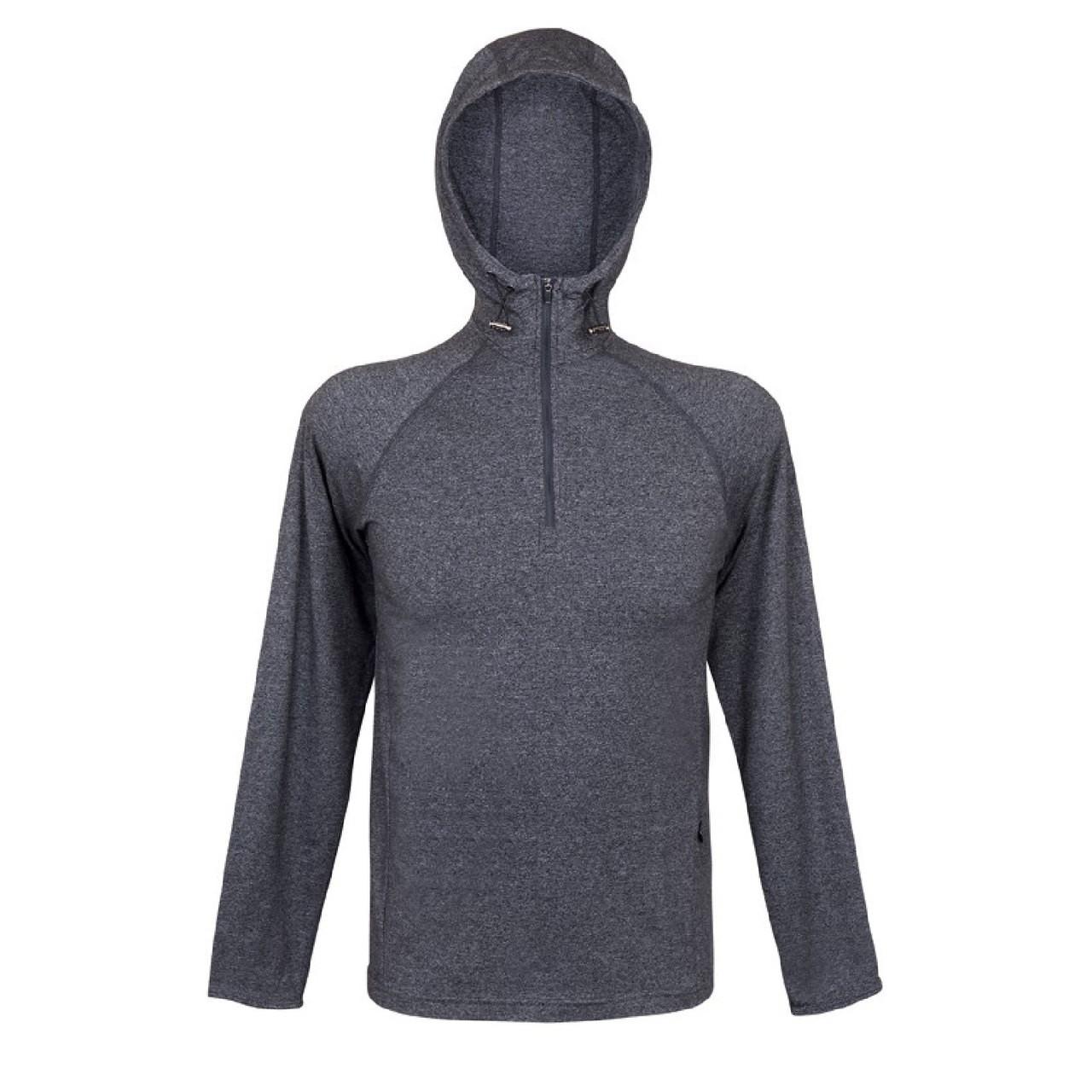 Adult Performance Hooded T-Shirt mens long sleeve tshirt plain mens hoodie