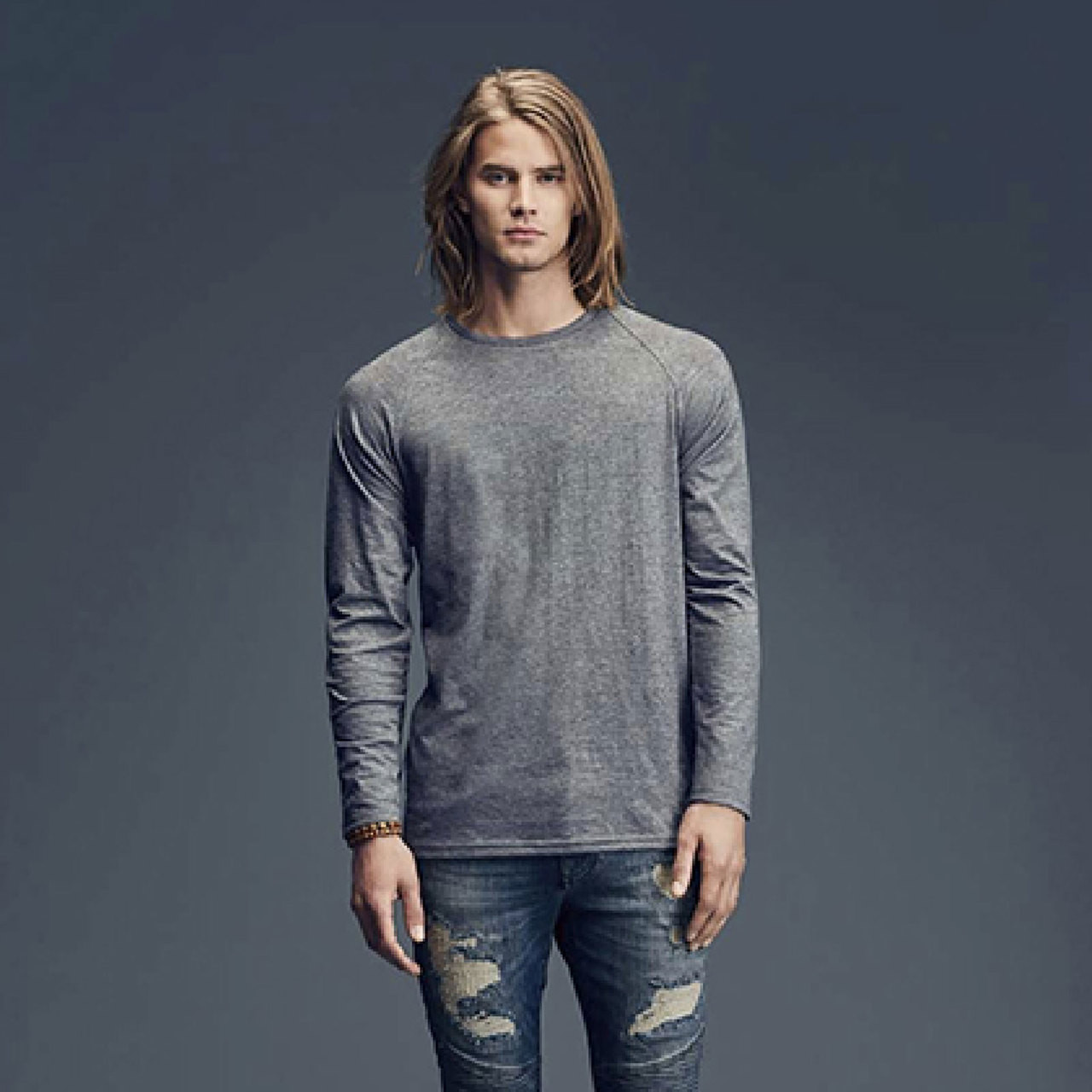 Anvil Fashion Basic Long And Lean Raglan Long Sleeve T-Shirt