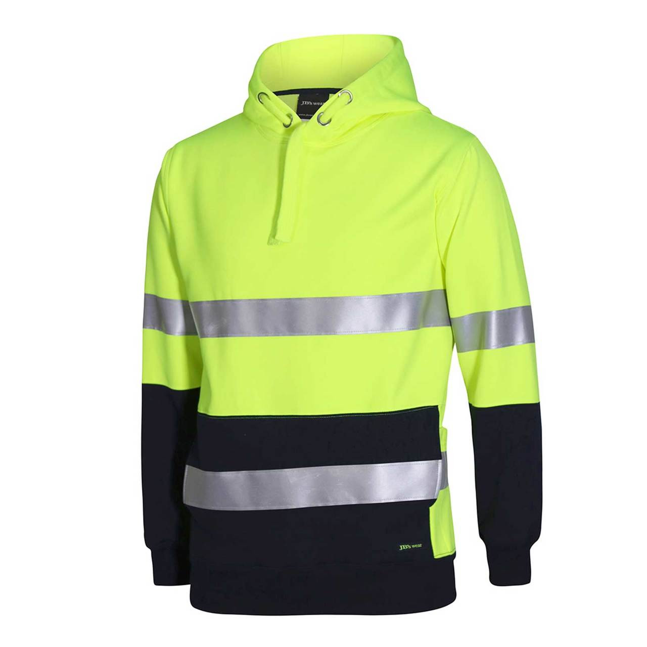 Safety Hi Vis Heavy Weight Fleecy Hoody Jumper 3m Tape Safety