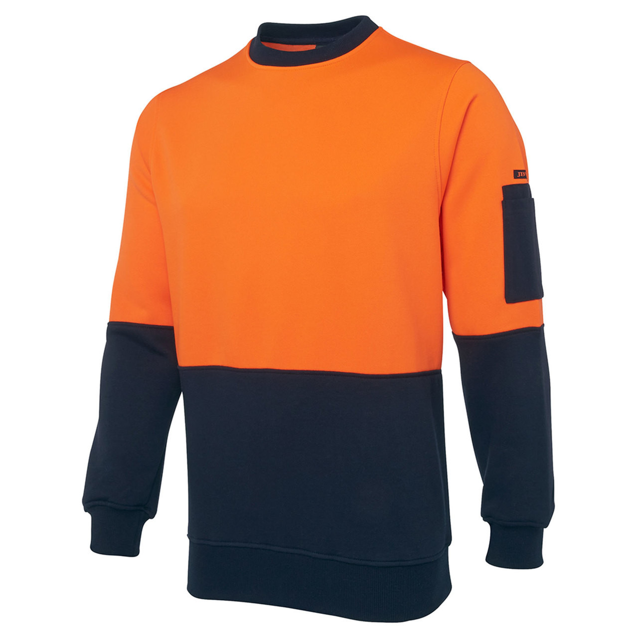 Safety Hi Vis Fleecy Crew Neck Sweater Safety Work Wear High
