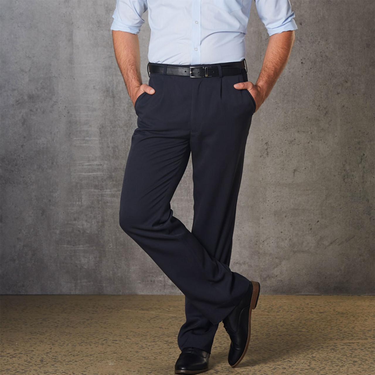 SIMON | Mens Permanent Press Suit Pants