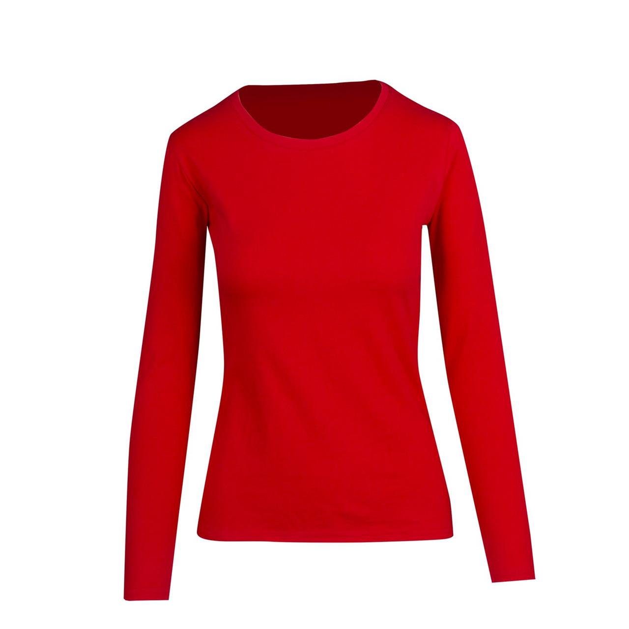 red long sleeve shirt womens