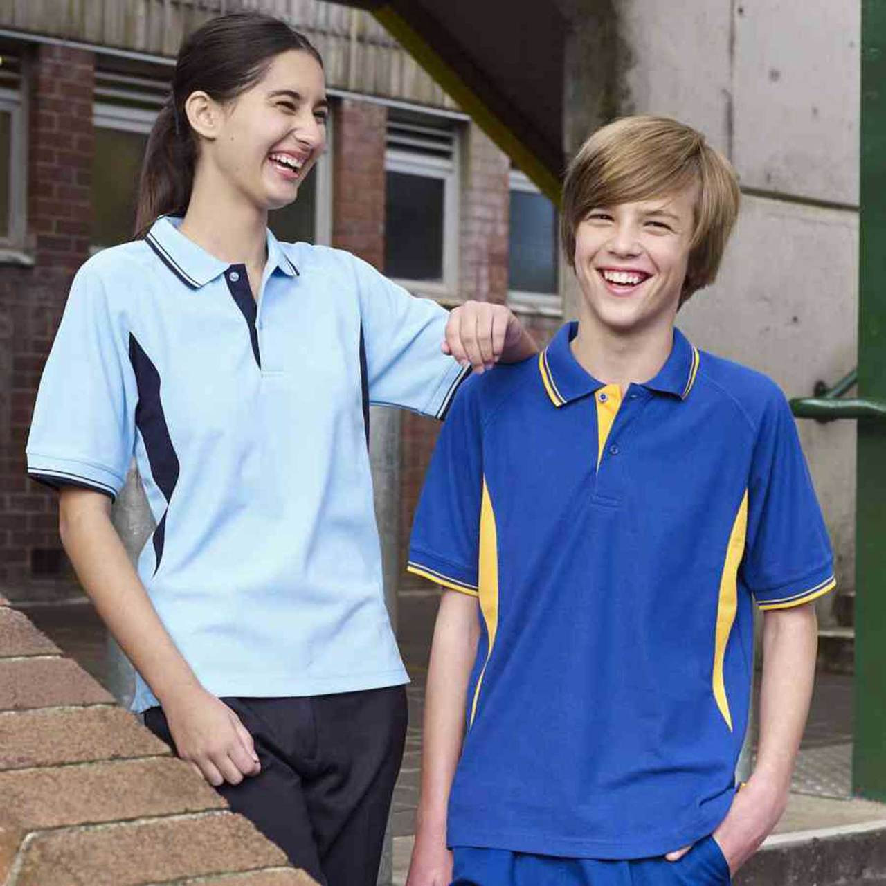 81a7e5aa1 SPLICE | kids polo shirts contrast raglan panels | buy online |  blankclothing.com.au