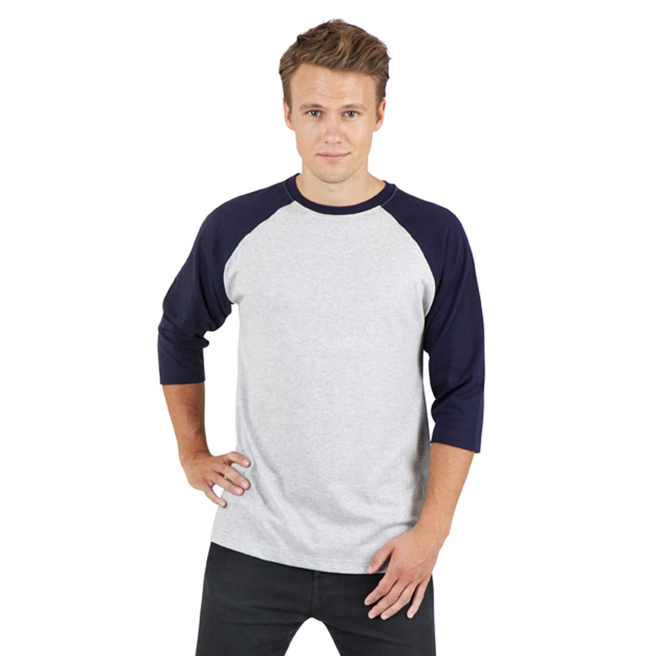 2ee245504a Blank men's baseball t-shirts 3/4 sleeves   Plain T Shirts   Wholesale T  Shirts
