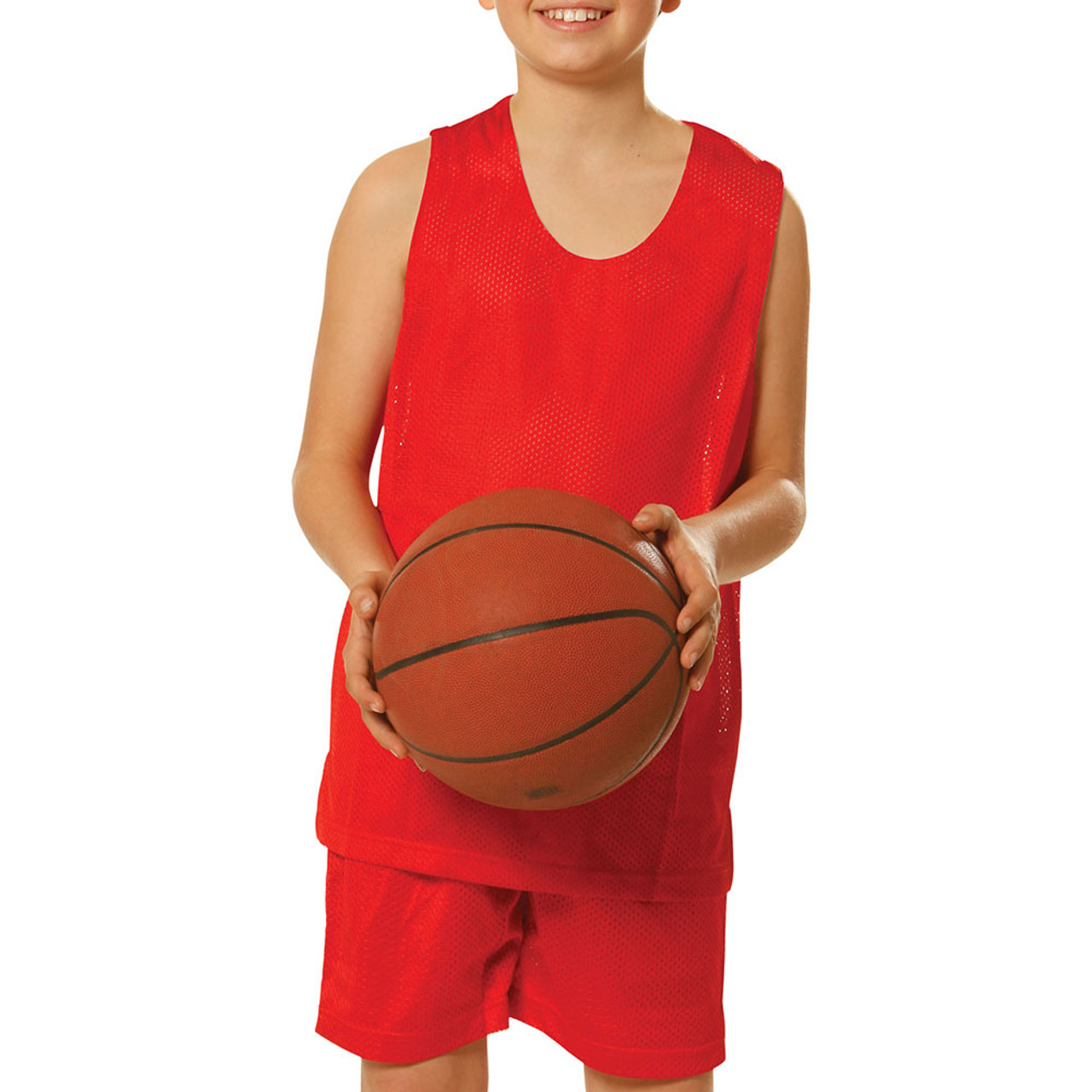 5996faa41 kids plain basketball singlets