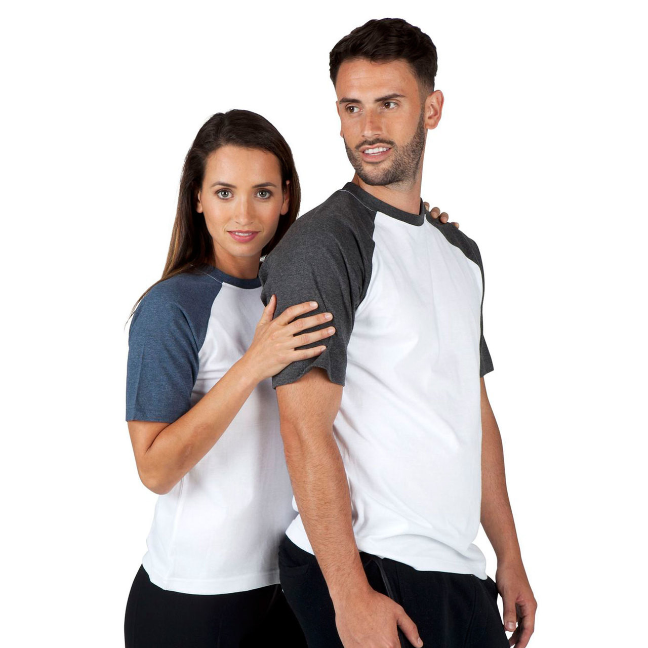 Sporty Crew Neck Athletic Baseball Raglan Jersey Stretch Shirt Black XS//S//M//L