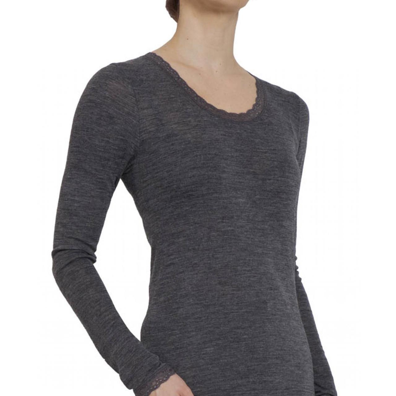 ffe0bfe4 Save on womens long sleeve thermal tshirt   merino blend   blank  undergarments