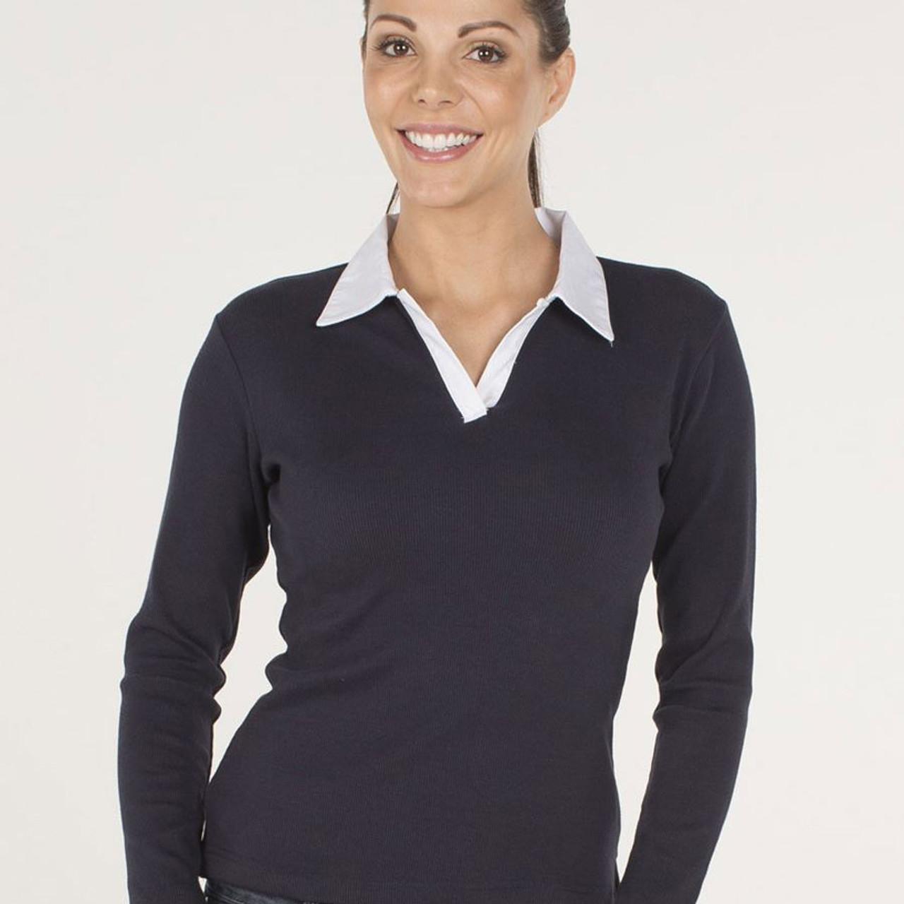 ac9e6bf5 RUGBY SHIRT   plain womens polo online   buy fashion clothing   ladies top    Plus Size Polos